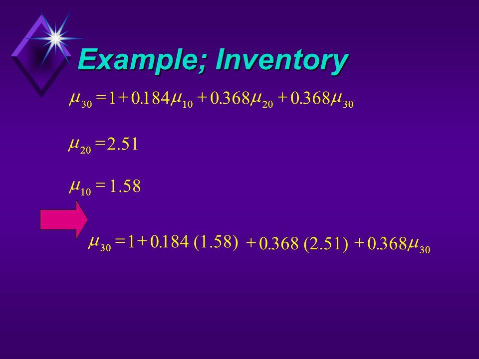 Example; Inventory  30102030 1018403680 ...  20 2.51   10  1.58   30 10184 (1.58) 0368 (2.51)0368  ...