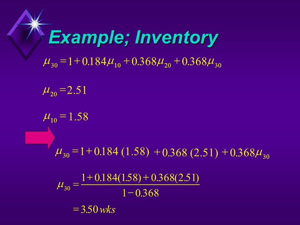 Example; Inventory  30102030 1018403680 ...  20 2.51   10  1.58   30 10184 (1.58) 0368 (2.51)0368  ...  30 101841580368251 10368 35
