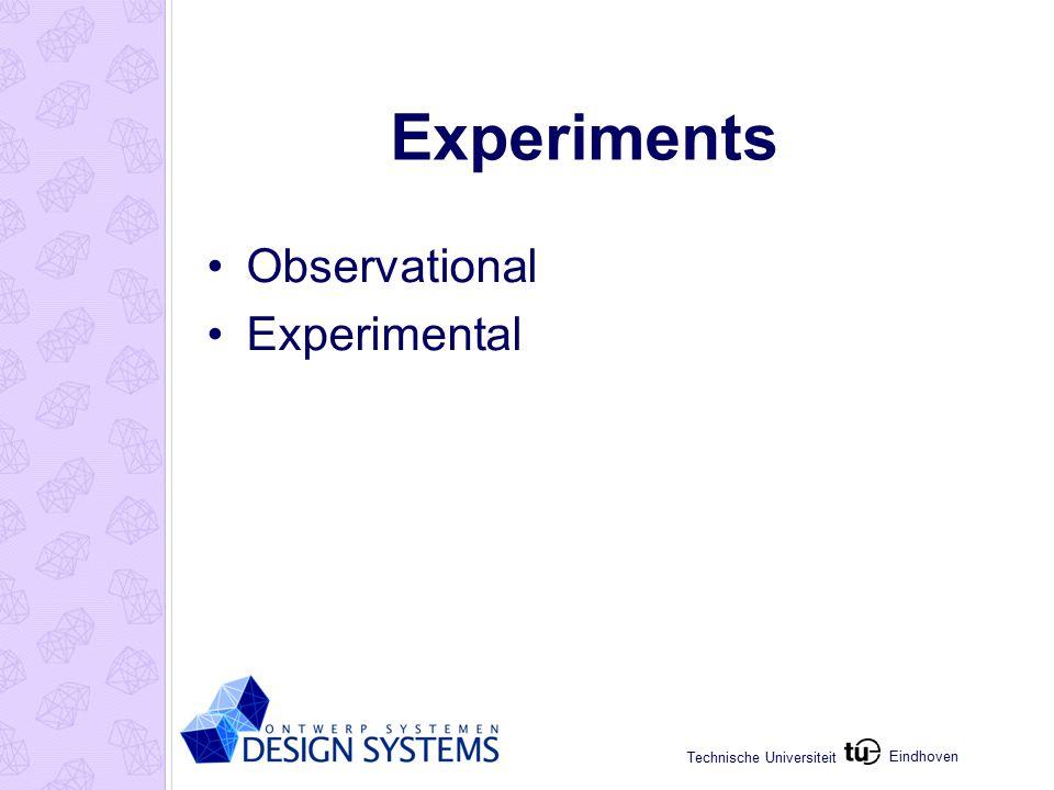 Eindhoven Technische Universiteit Experiments Observational Experimental
