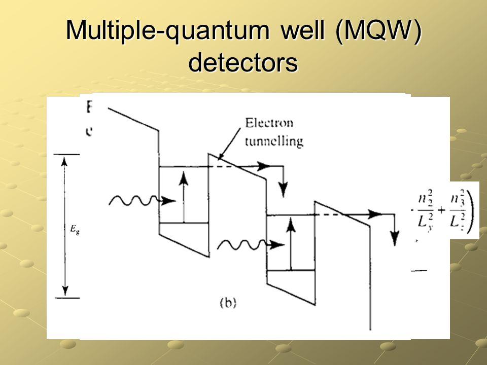 Multiple-quantum well (MQW) detectors