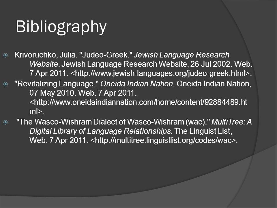 Bibliography  Krivoruchko, Julia.