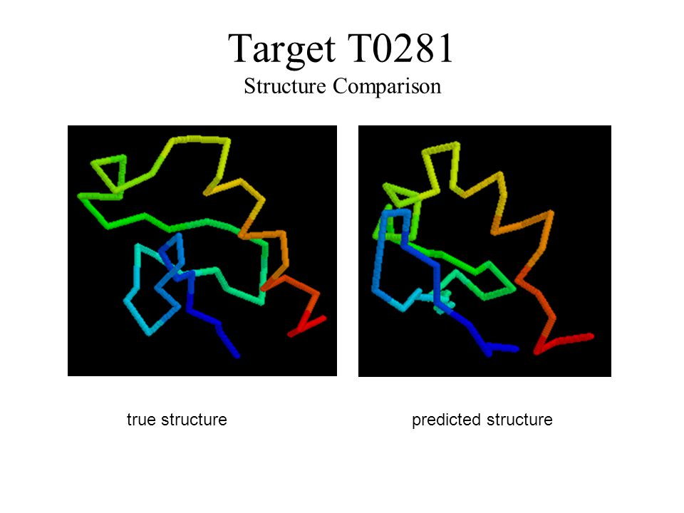 Target T0281 Structure Comparison true structurepredicted structure
