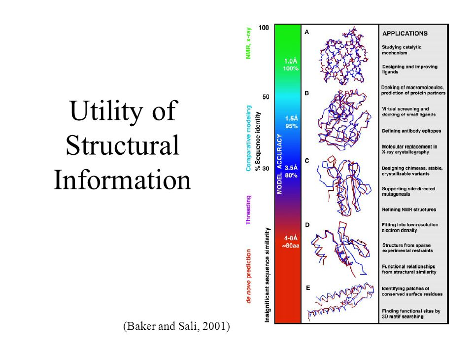 Utility of Structural Information (Baker and Sali, 2001)