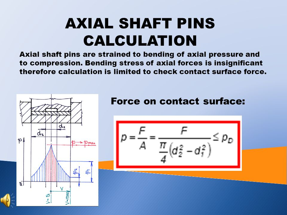 AXIAL SHAFT PINS Axial shaft pins intercept forces having some effect in pin axis direction.