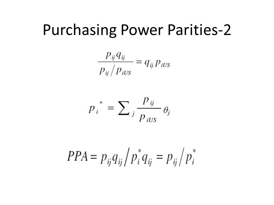 Purchasing Power Parities-2