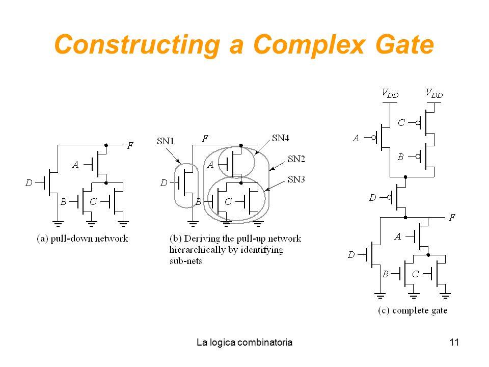 La logica combinatoria11 Constructing a Complex Gate