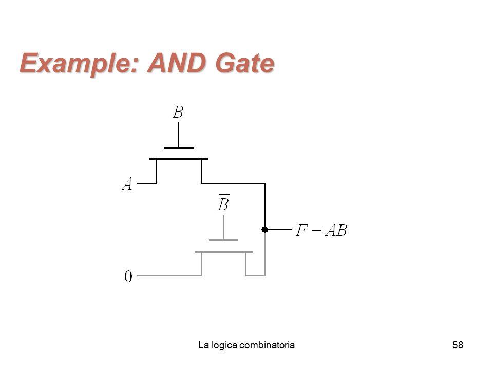 La logica combinatoria58 Example: AND Gate