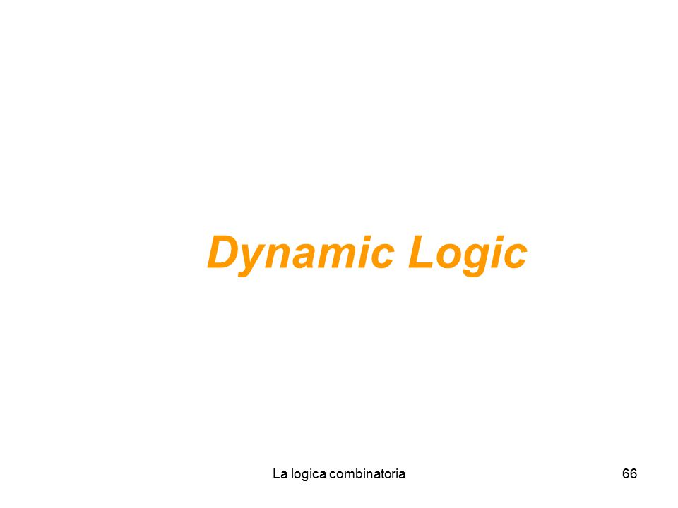 La logica combinatoria66 Dynamic Logic