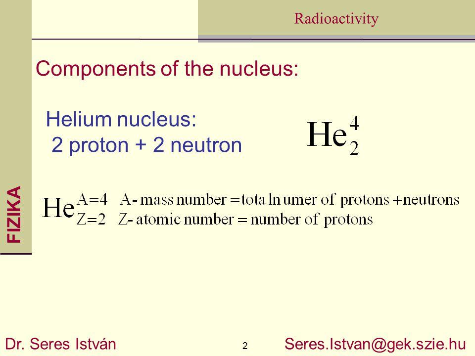 FIZIKA 2 Radioactivity Dr.