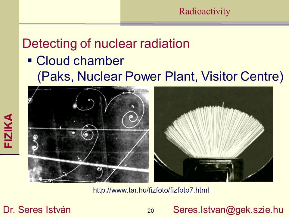 FIZIKA 20 Radioactivity Dr.