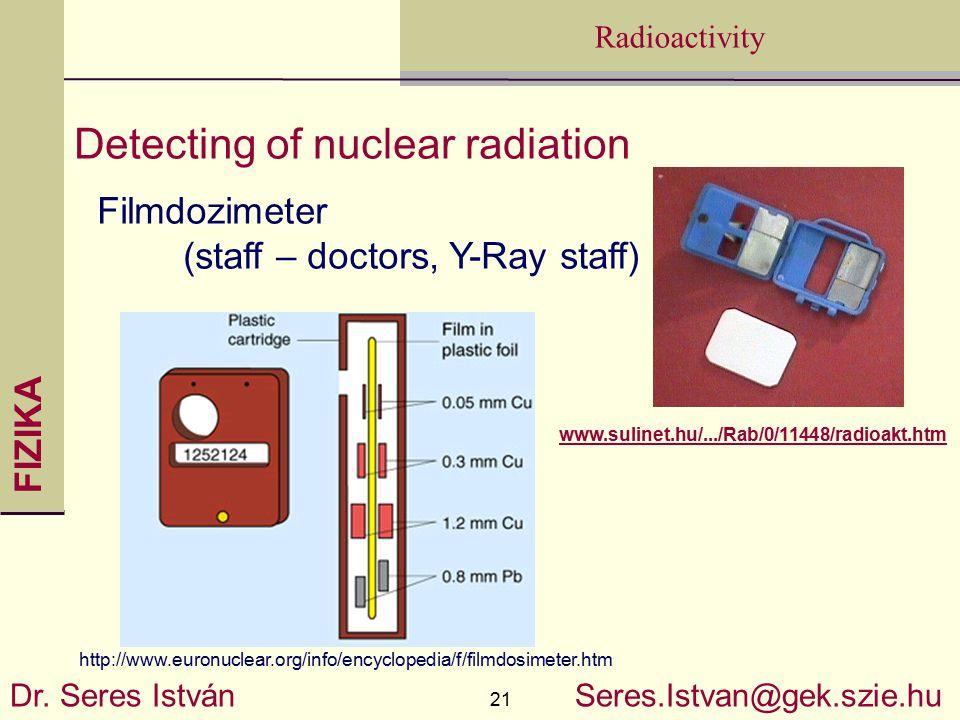 FIZIKA 21 Radioactivity Dr.