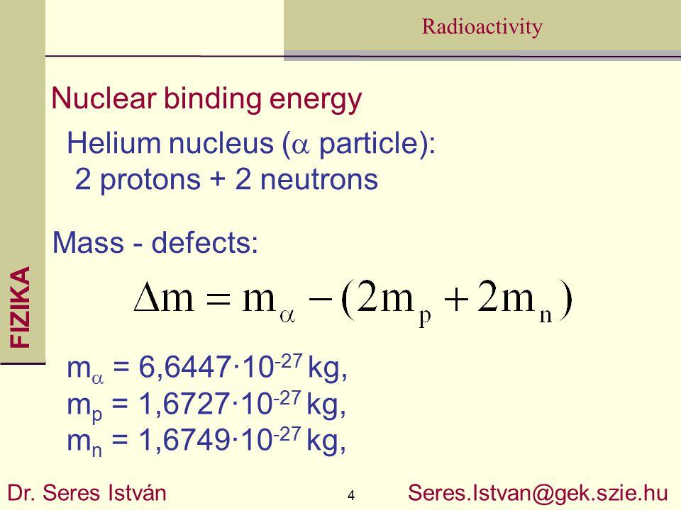 FIZIKA 4 Radioactivity Dr.