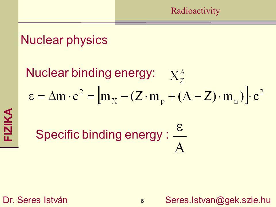 FIZIKA 6 Radioactivity Dr.