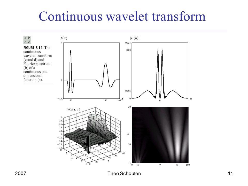 2007Theo Schouten11 Continuous wavelet transform