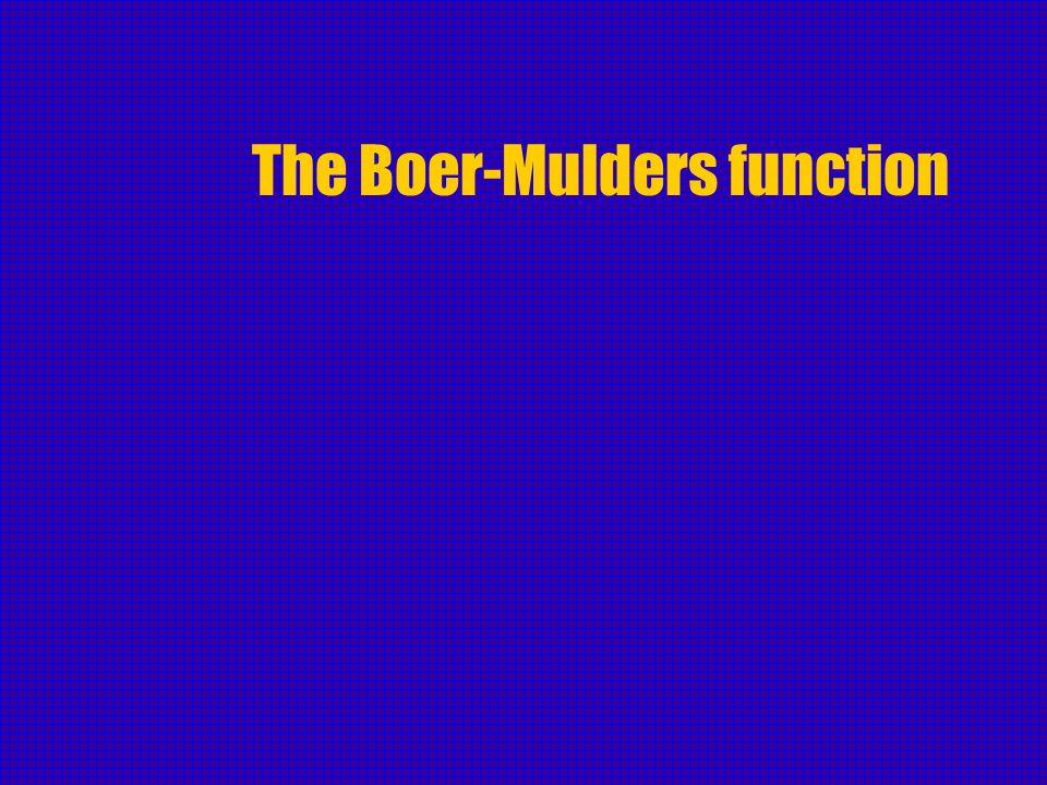 The Boer-Mulders function