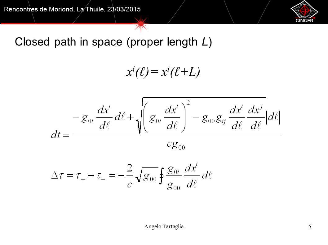 References Angelo Tartaglia16 A.Di Virgilio, et al., Comptes Rendus Physique, vol.