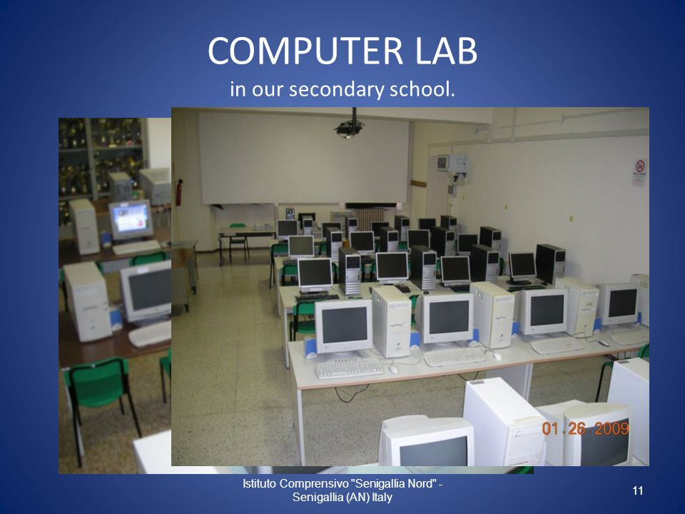 COMPUTER LAB in our secondary school.
