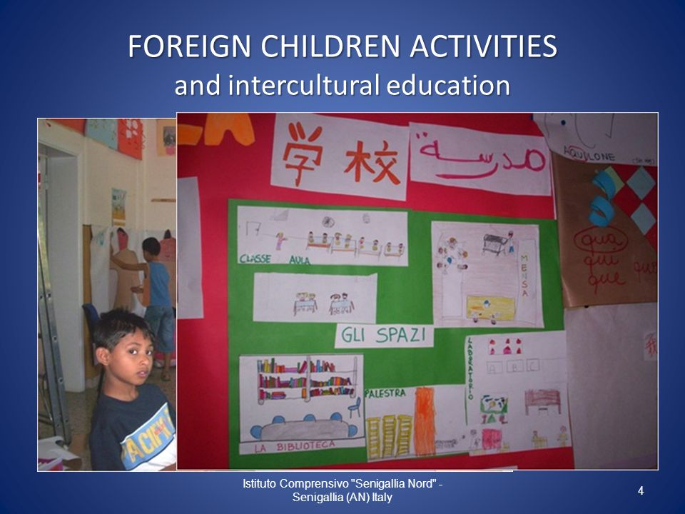 FOREIGN CHILDREN ACTIVITIES and intercultural education Istituto Comprensivo Senigallia Nord - Senigallia (AN) Italy 4