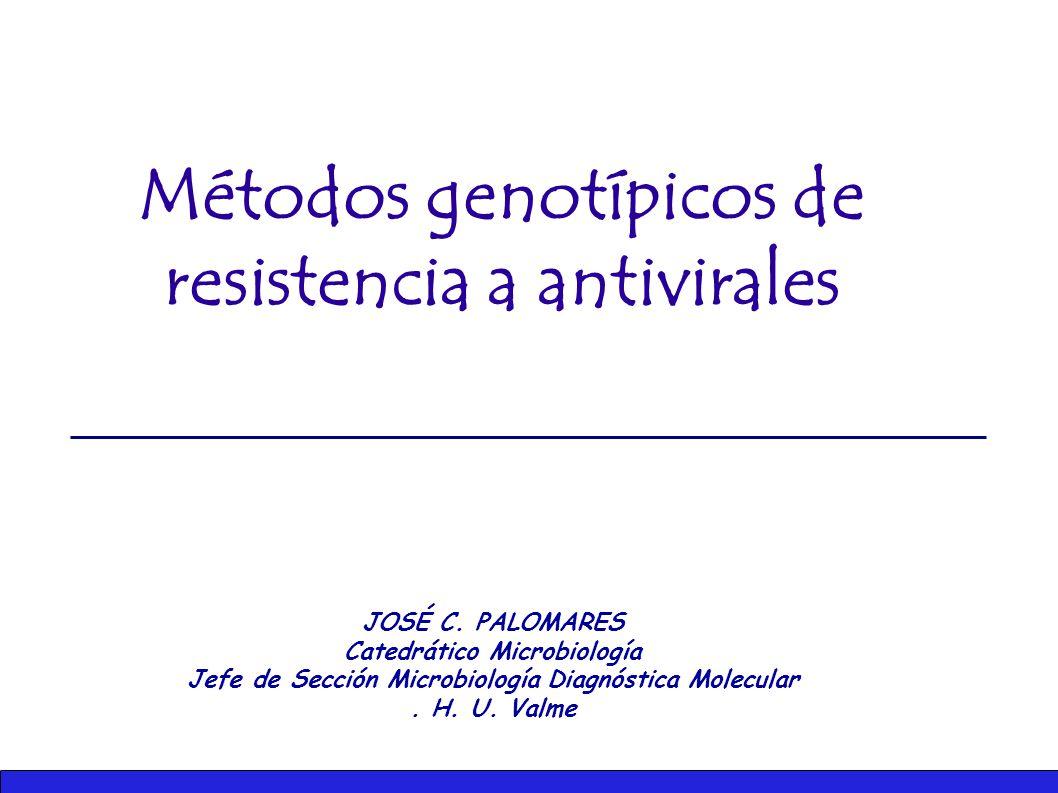 Métodos genotípicos de resistencia a antivirales JOSÉ C.