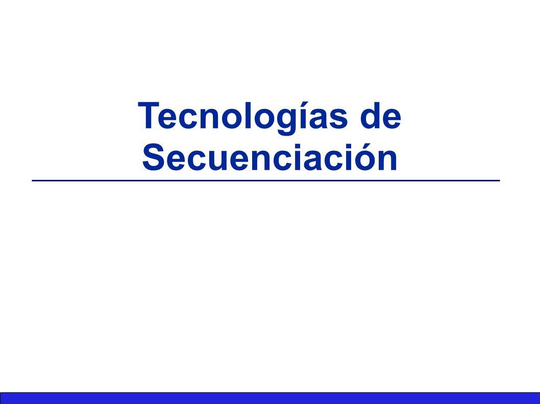 Tecnologías de Secuenciación