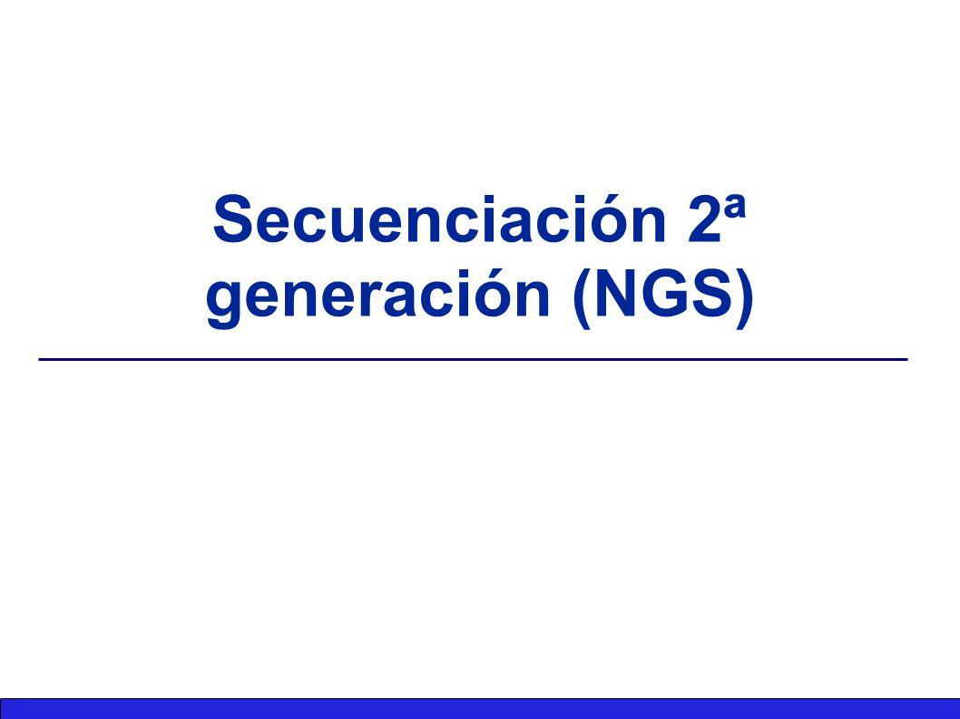 Secuenciación 2ª generación (NGS)