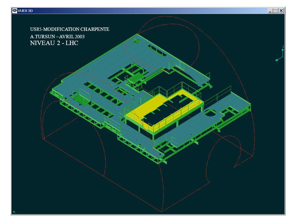 US85-MODIFICATION CHARPENTE A.TURSUN – AVRIL 2003 NIVEAU 3 - LEP
