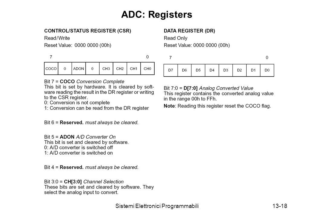 Sistemi Elettronici Programmabili13-18 ADC: Registers
