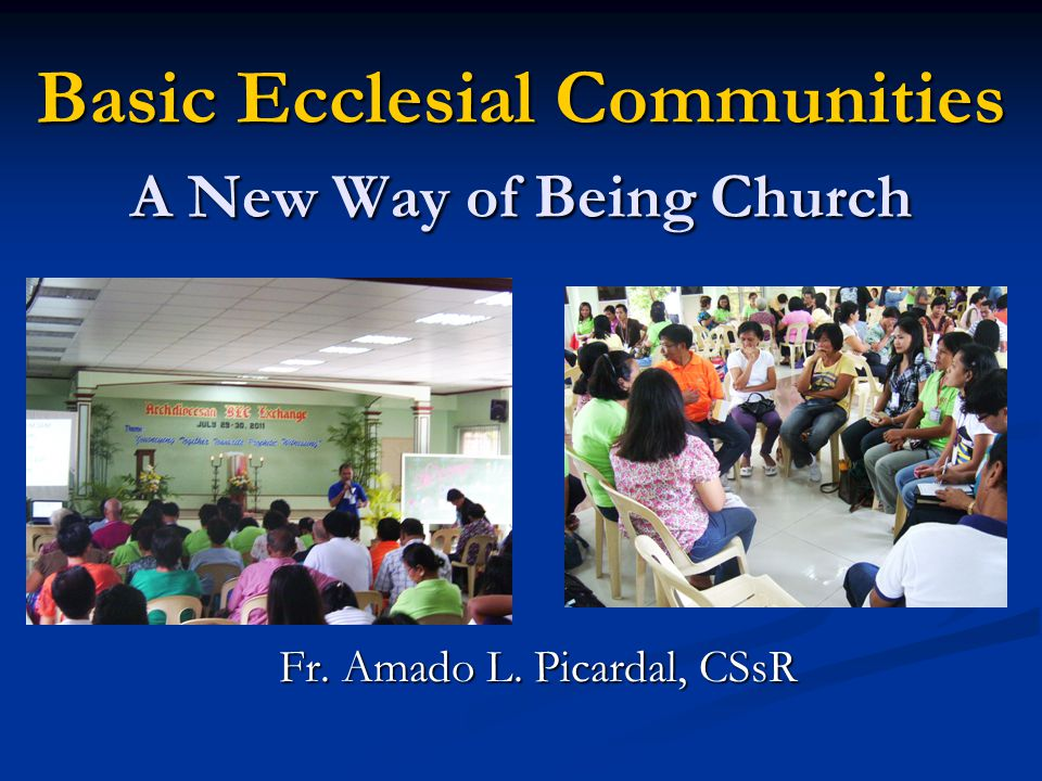 Basic Ecclesial Communities A New Way of Being Church Fr. Amado L. Picardal, CSsR