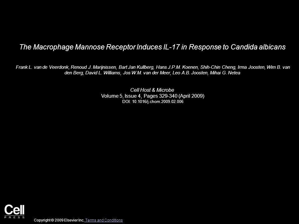 The Macrophage Mannose Receptor Induces IL-17 in Response to Candida albicans Frank L.