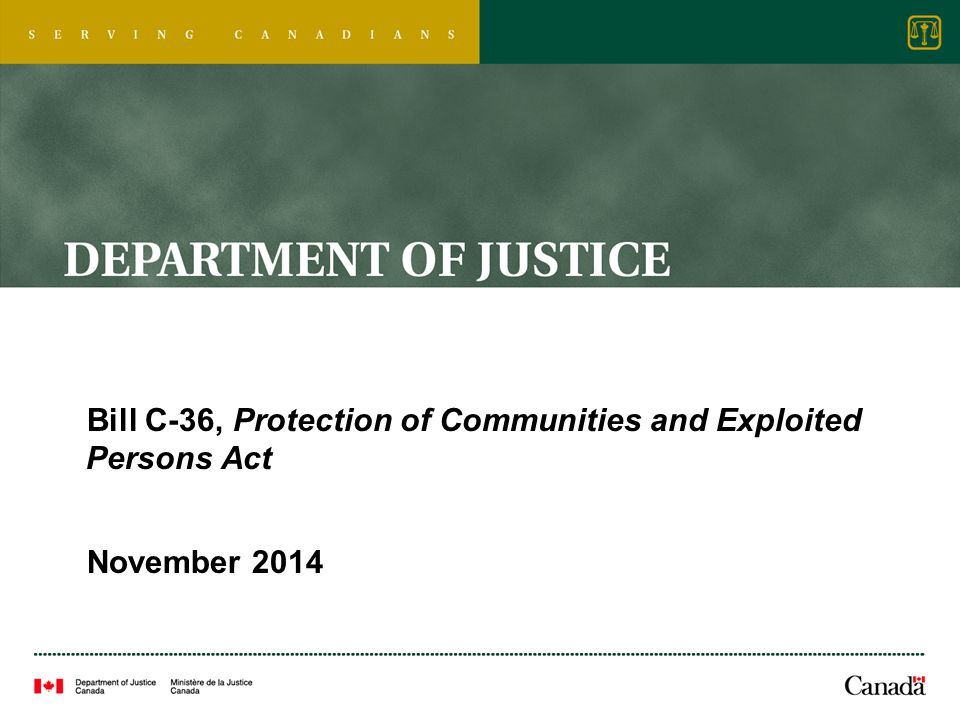 Bill C-36, Protection of Communities and Exploited Persons Act November 2014