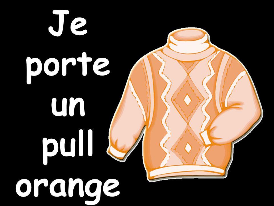 Je porte un pull orange