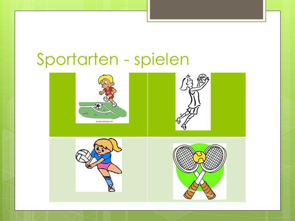 Sportarten - spielen