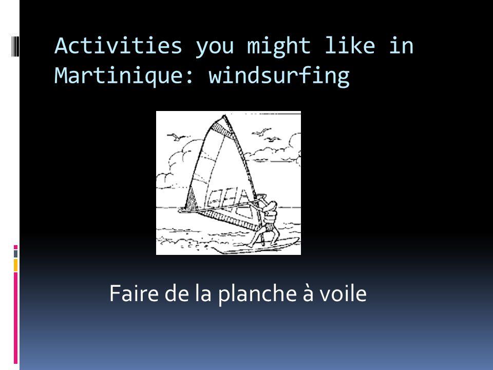 Activities you might like in Martinique: windsurfing Faire de la planche à voile