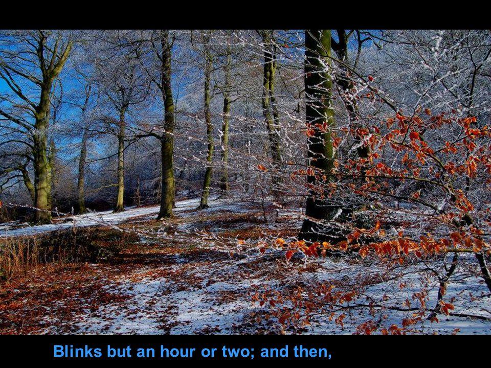 A frosty, fiery sleepy-head;