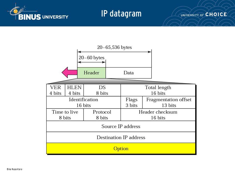Bina Nusantara IP datagram