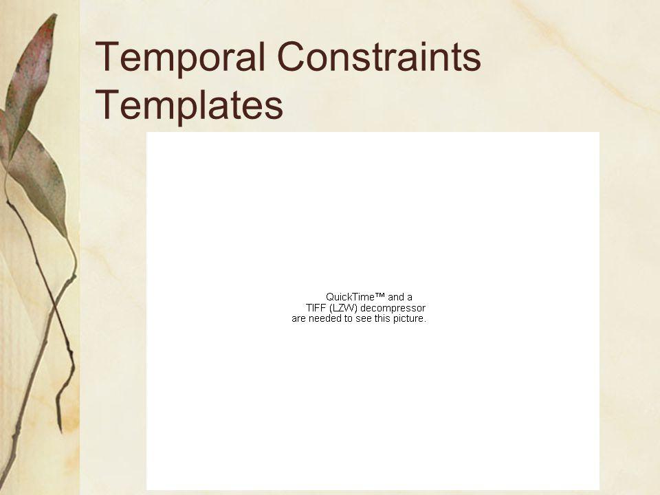 Temporal Constraints Templates