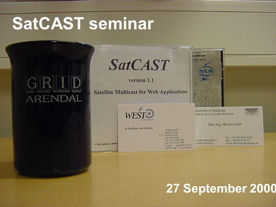 27 September 2000 SatCAST seminar