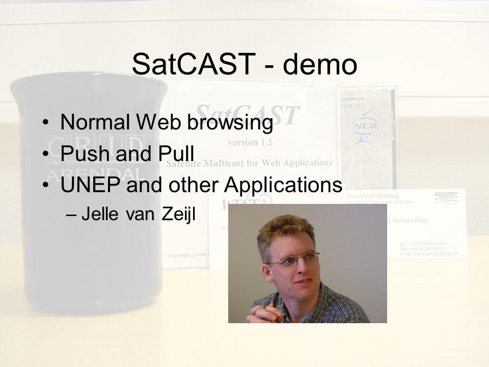 SatCAST – demo : NEONET