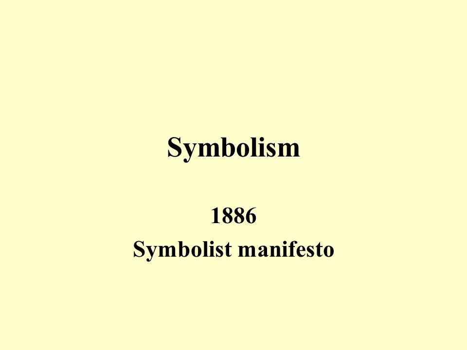 Symbolism 1886 Symbolist manifesto