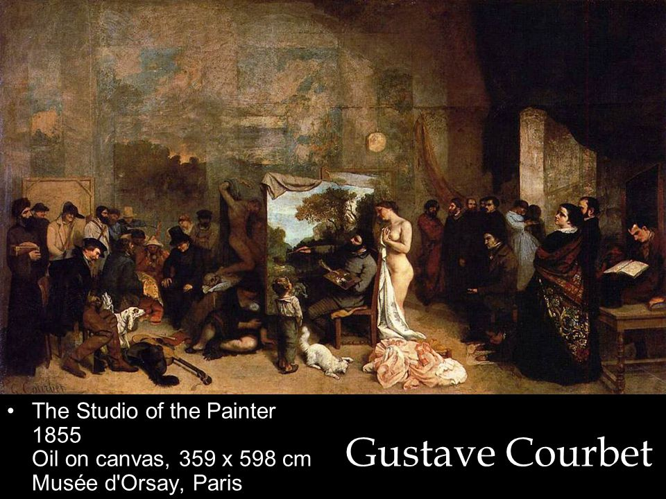 Gustave Courbet The Studio of the Painter 1855 Oil on canvas, 359 x 598 cm Musée d Orsay, Paris