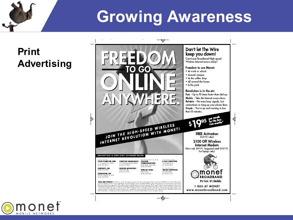 Growing Awareness Print Advertising