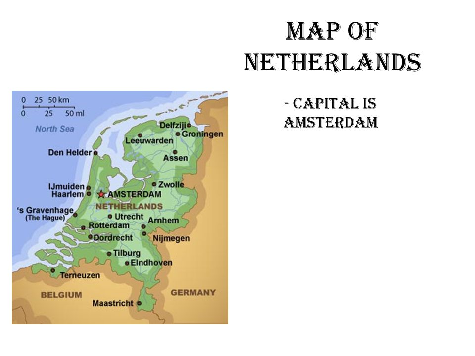 Map Of Netherlands - Capital Is Amsterdam