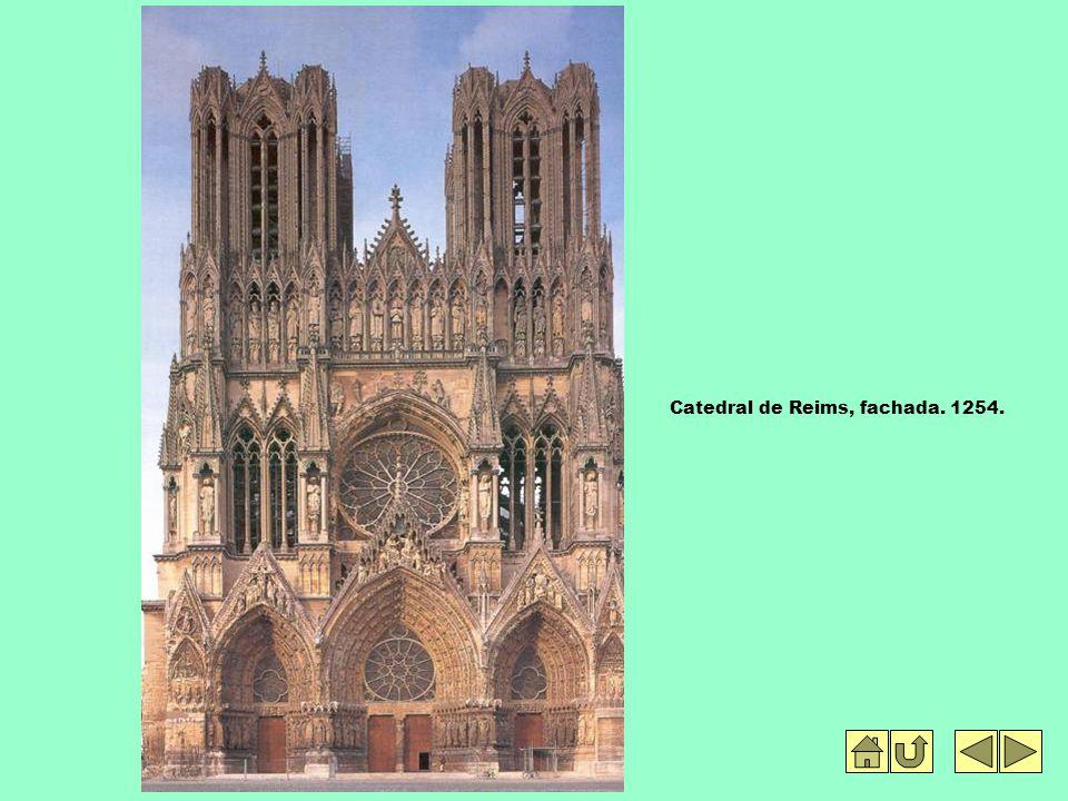 Catedral de Reims, fachada. 1254.