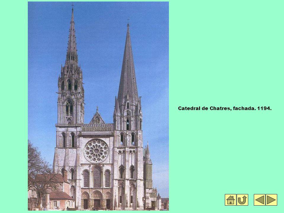 Catedral de Chatres, fachada. 1194.