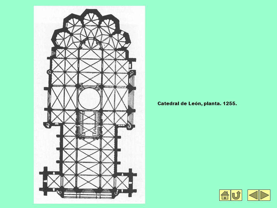 Catedral de León, planta. 1255.