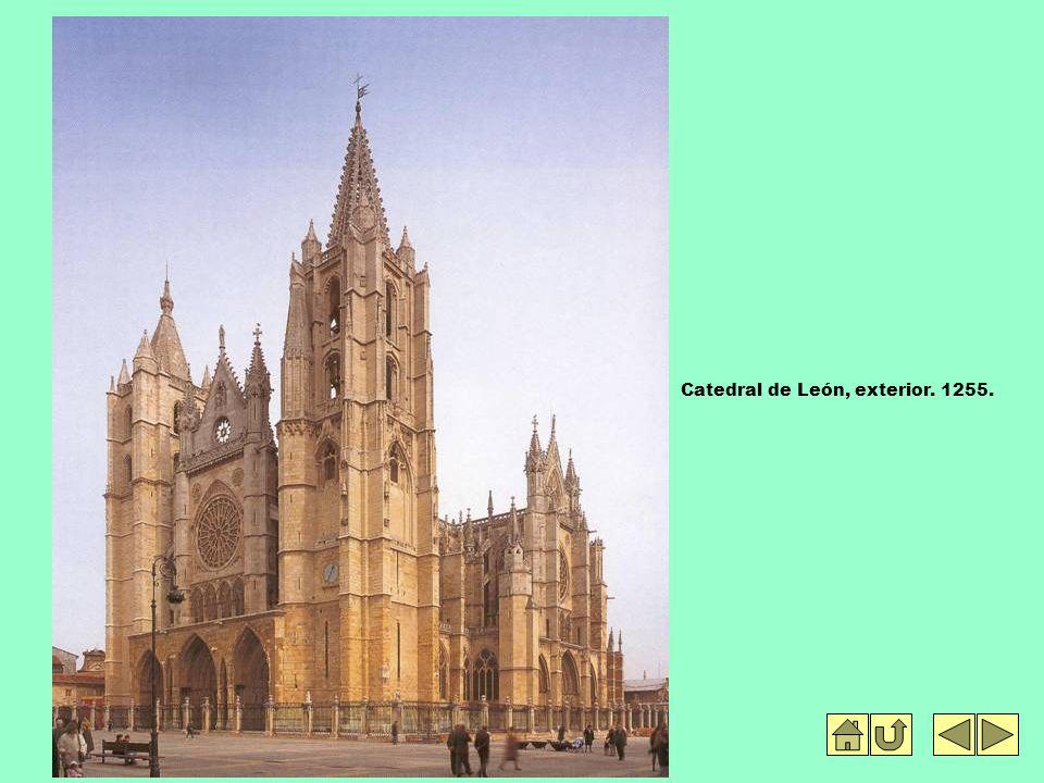 Catedral de León, exterior. 1255.