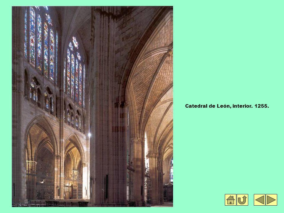 Catedral de León, interior. 1255.