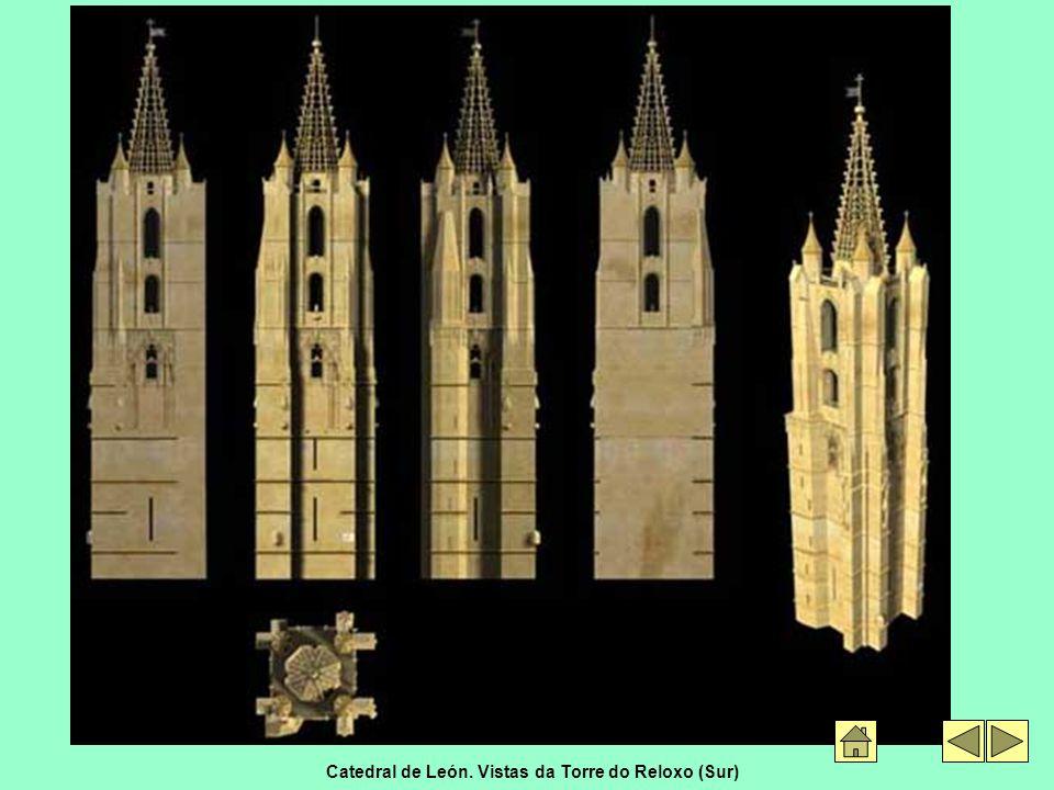 Catedral de León. Vistas da Torre do Reloxo (Sur)