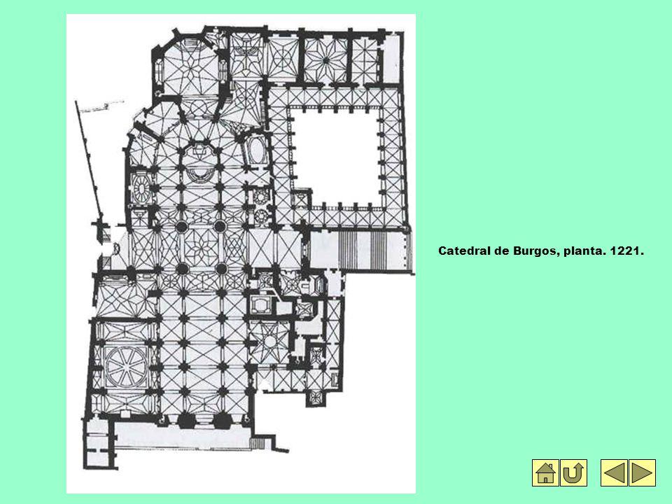 Catedral de Burgos, planta. 1221.