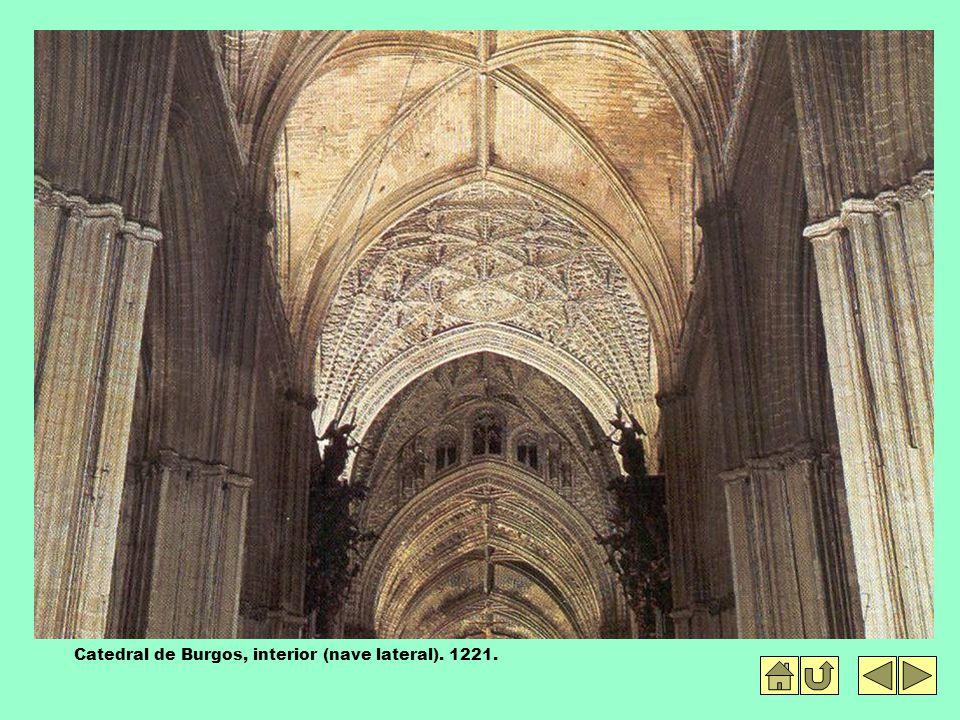 Catedral de Burgos, interior (nave lateral). 1221.